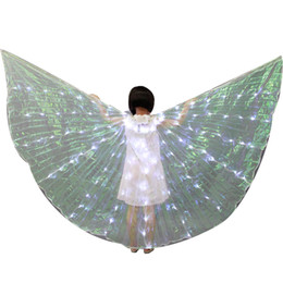 $enCountryForm.capitalKeyWord UK - Child LED Isis Wings - Belly Dance LED Light up Wings Performance Costume Party Club Wear Dance Accessories LED Butterfly Wings With Stick