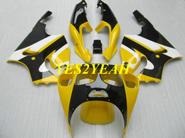 Discount kawasaki zx7r bodywork - Motorcycle Fairing body kit for KAWASAKI Ninja ZX-7R ZX7R 1996 2003 ZX 7R 96 97 02 03 Yellow black Fairings bodywork+gif