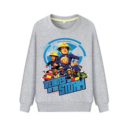 fireman clothes 2019 - Drop Shipping Fireman Sam Hoodies For Kids Spring Autumn Clothing Boys Casual Sweatshirts Girls Clothes Children Hoodie