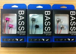 Material Headphones NZ - 3.5mm In-ear Stereo Earphone Metal Material Bass Sound With Shock Effect Ep-2800 Headphone With Extra Bass In-ear Ear Phone Us01