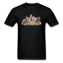 Cotton City T Shirts Australia - Summer T Shirts Columbus Tshirt Men City Ohio Skyline Graphic T-shirt Retro Vintage Clothing Casual Style Tops Tees Cotton