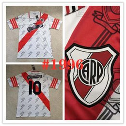 soccer beds 2019 - 1996 River Plate Retro home PRATTO Soccer Jersey 96 97 River bed white QUINTERO G.MARTINEZ Classic vintage version Custo