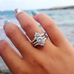 $enCountryForm.capitalKeyWord Australia - Shining Women's 925 Sterling Silver White Sapphire & Diamond Ring Bridal Wedding Band Ring Size 5 - 12