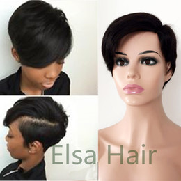 Hair Color For Short Hairstyles NZ - Malaysian Straight Short Bob Wigs For Black Women Remy Hair Lace Front Human Hair Wigs Natural Color Side part