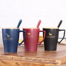 $enCountryForm.capitalKeyWord NZ - 2019 new COFFE MUG Simple ceramic cup with lid household drinking matte mug custom practical office coffee cup gift cup