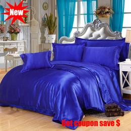 $enCountryForm.capitalKeyWord Australia - Free shipping imitation tencel 4pcs solid color bedding set hot sale 3 or 4pcs pillowcase bed sheet bedskirt duvet cover sets