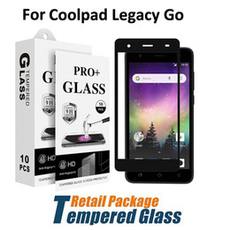 Screen protector film Stock online shopping - Tempered Glass For Coolpad Legacy Go Illumina Alchemy Full Cover Screen Protector Film With Paper Package Stock