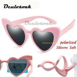 $enCountryForm.capitalKeyWord Australia - Baby Girl Sunglasses For Children Heart 2019 Tr90 Black Pink Red Heart Sun Glasses For Kids Polarized Flexible Uv400