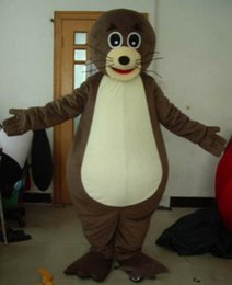 Make lion costuMe online shopping - Light and easy to wear a sea lion mascot costume with small mouth for adult to wear0