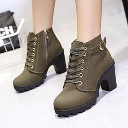 $enCountryForm.capitalKeyWord Australia - Women High Heel Boots Fashion Ankle Boots For Women Winter Boots Female Autumn Thick With Square Heel Women Booties