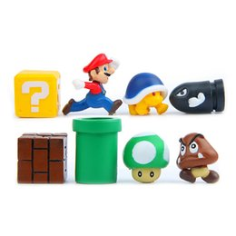 girls toy package NZ - 3D Funy Stereoscopic Super Mario Bros Fridge Magnets Message Sticker Adult Man Girl Boy Children Toy Birthday Gift 4 8 10pcs