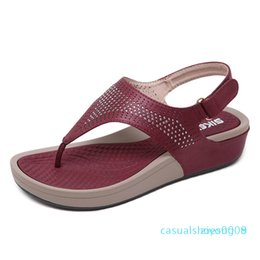 thick sole sandals Australia - Summer Shoes Women Sandals Flip Flops Thick Sole Ladies Wedges Sandals Summer Holiday Casual Woman Beach Slippers z08
