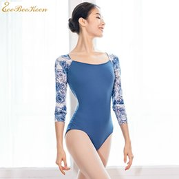 Discount adult ballet costumes - Ballet leotards for female Spandex training costume for Women Yoga bodysuit Ballerina dancewear adult gymnastics leotard