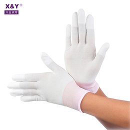$enCountryForm.capitalKeyWord Australia - Polyester Knitted Liner Glove Workout Durable Examination Lint Free PU Coated Pop Fit Nylon Gloves for Safety Construction Mechanical Uses