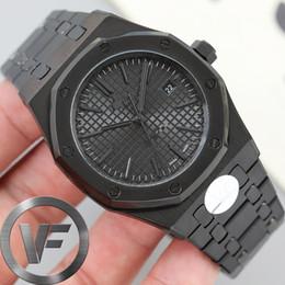 venda por atacado VF preto Sapphire Mens 41 milímetros Assista 2813 Automatic Movimento Moda Masculina Relógios Mecânicos Royal Oak 15400 Relógios de pulso