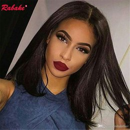 black women long natural hair 2019 - Brazilian Virgin Remy Straight Full Lace Human Hair Wigs Pre Plucked Rabake Raw Indian Cheap Full Lace Wig Cuticle Align