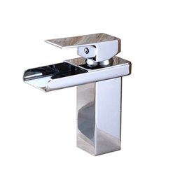 Water Lever UK - Single-lever Wash Basin With 2 Tubes Waterfall Chrome For Bathroom Sinks Sanitary Ware Cold And Hot Water Modern Faucets