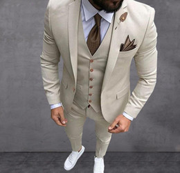 Black coat pant for men online shopping - 2019 Latest Coat Pant Designs Beige Mens Suit Prom Tuxedo Slim Fit Piece Groom Tuxedos Wedding Suits For Men Custom Blazer Terno Masuclino