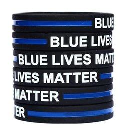 $enCountryForm.capitalKeyWord NZ - Blue Lives Matter Silicone Wristband Bracelet Soft Flexible No Gender Bangle Decoration Bracelets Party Favor 600pcs OOA6769