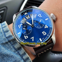 $enCountryForm.capitalKeyWord NZ - High Quality IW502703 Pilot Little Prince Steel Case Blue Multi-function Dial Big Day Date Automatic Mens Watch Leather Strap Sport Watches