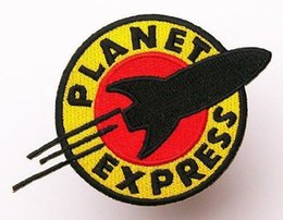 $enCountryForm.capitalKeyWord Australia - Planet Express Patch Rocker Biker Badge Motorcycle Club Morale MC Front of Jacket Iron on Clothing Vest Parch Free Shipping