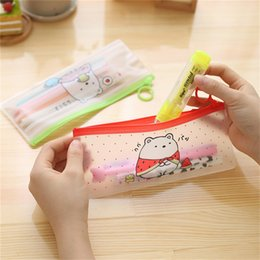 $enCountryForm.capitalKeyWord Australia - Women Transparent Storage bag Clear Makeup Bag PVC Zipper Cosmetic Organizer Students School Cosmetic Pencil Case Pouch