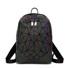 Discount baochao bags - Japanese - style frosted luminous backpacks gradually diamond shaped splicing backpack new fashion women's baochao