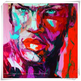 $enCountryForm.capitalKeyWord Australia - Hand painted Palette knife painting portrait Palette knife Francoise Nielly Face Abstract Oil painting Impasto figure on canvas Decor FN77