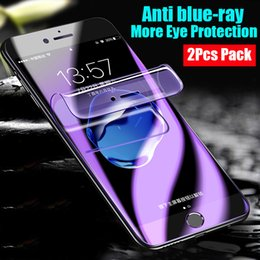 Lit Pack Australia - Blue Light Screen Protector For Samsung Galaxy S8 S9 Plus S7Edge Soft Curve Edge Hydrogel Screen Protectors 2Pcs Pack