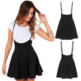 932a101c1 High Waist Suspender Skirt Australia - Summer Fashion Suspender Zipper  Women Skirt Solid Mini Backless High