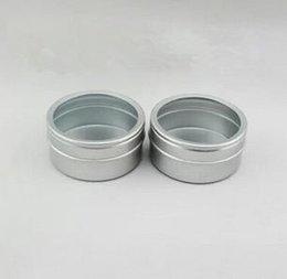 $enCountryForm.capitalKeyWord Australia - Wholesale- 100pcs lot 40g empty skin care cream aluminum jars with PVC window ,40gml aluminum tins window lid metal bottle tin pot can