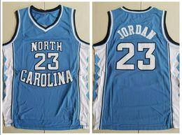 d62c594b143 NCAA North Carolina 23 Michael Blue Embroidered Basketball Jersey S-XXL