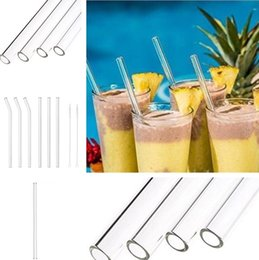$enCountryForm.capitalKeyWord NZ - clear Straight Straw Reusable and Temperature Resistant Environmental Glass Water Drinking Straws Wedding Birthday Party Straws 4932