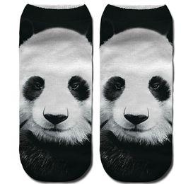 Purple Panda Socks Australia - 2019 Hotsale Tiger Leopard Bear Panda Short Ankle Socks Women Female Funny 3D Print Animal Art Socks Winter Spring Autumn