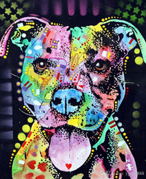 $enCountryForm.capitalKeyWord Australia - -cherish-the-pitbull-Unframed Modern Canvas Wall Art for Home and Office Decoration,Painting ,Animal painting ,Frame painting