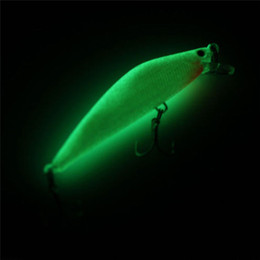 Night Lures Australia - 1pcs 3d Luminous Minnow Night Fishing Bait 8cm 10g Wobblers Artificial Hard Lures Warped Bass Isca Crankbait Fishing Tackle