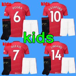 80890089786 19 20 kids kit manchester lukaku soccer jersey home 2019 2020 Man pogba  alexis RASHFORD LINGARD united football shirt