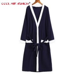 75f44bda5b Waffle cotton Kimono bathrobes Sexy Men robe three-quarter sleepwear solid  color soft breathable Lightweight Long Robe with Belt