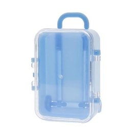 Trolley Toys Australia - ALIM HOT mini roller travel suitcase candy box personality creative wedding candy box luggage trolley case candy toy small