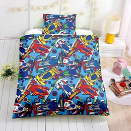 $enCountryForm.capitalKeyWord Australia - Thumbedding Dropship Racing Toy Car Bedding Sets for Kids Children Twin Full Queen King 3D Duvet Cover Set with Pillowcase