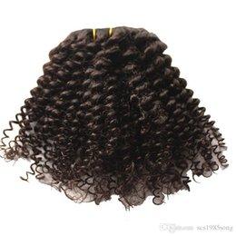 Venta al por mayor de Afro Kinky Clip rizado en extensiones de cabello humano 100% Remy Hair 120 g / Set, color 1 # 4 # opción