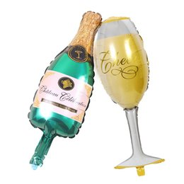 birthday wine glasses Australia - Large Champagne Bottle Foil Balloon Birthday Party Decoration Wine Glass Aluminum Balloon Festive & Party Supplies 252