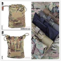 $enCountryForm.capitalKeyWord NZ - New EMERSON Large Capacity Waist Molle Military Tactical Airsoft Paintball Hunting Folding Mag Recovery Dump Pouch Hunting Bags #159280