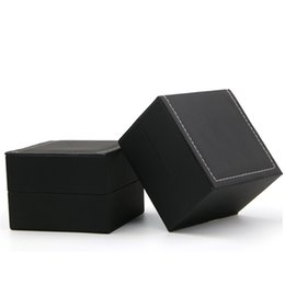 $enCountryForm.capitalKeyWord Australia - Top Grade PU Watch Box Black Flips Over Style Gift Boxes Man Gifts Giving Use Watches Case 4 7xm L1