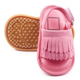 Wholesale Baby Girls Frosted Fringed Rubber Sole Baby Toddler Shoes Princess Fashion Sandals AN88