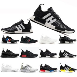 $enCountryForm.capitalKeyWord NZ - With Box R1 Running Shoes Thunder Bred OREO Runner Primeknit OG atmos Japan Triple black White Men Women Red Marble Trainers Sports sneakers