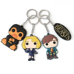 Customized promotion online shopping - Hot sell Anime surrounding magical animals keychain PVC soft plastic car accessories keychain customize cartoon keyring