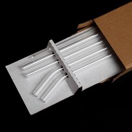 Conjunto de paja de vidrio Gafas transparentes Pajitas resistentes al calor Muebles para el hogar Conjuntos Tubularis hechos a mano puros Nueva llegada 5 8xc L1 en venta