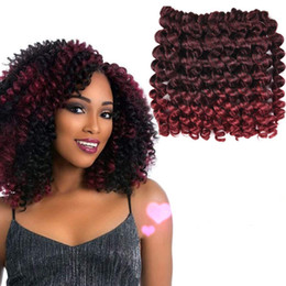 $enCountryForm.capitalKeyWord Australia - Hot Sale! 6 Packs Short Wand Curl Spiral Bouncy Jumpy Crochet Hair Afro Small Curls African Hair Extensions for Black Women Xtrend Hair