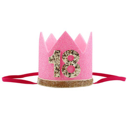 $enCountryForm.capitalKeyWord Australia - Cute Shiny 1 16 30 Adult Children Birthday Party Hats Girls kawaii Princess Crown Caps Women Cake Caps Photo Props Party Decor